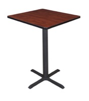 "Cain 30"" Square Cafe Table - Cherry"