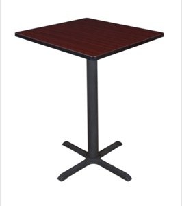 "Cain 30"" Square Cafe Table - Mahogany"