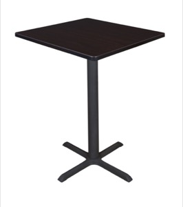 "Cain 30"" Square Cafe Table - Mocha Walnut"