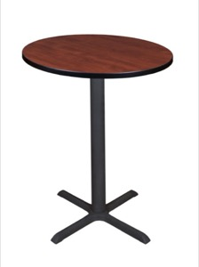 "Cain 30"" Round Cafe Table - Cherry"