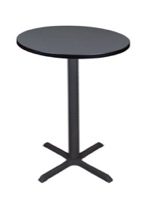 "Cain 30"" Round Cafe Table - Grey"