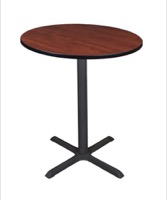 "Cain 36"" Round Cafe Table - Cherry"