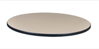 "36"" Round Laminate Table Top - Beige/ Grey"