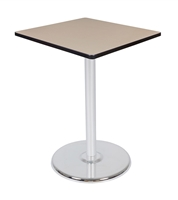 "Regency Via Cafe High 30"" Square Platter Base Table"