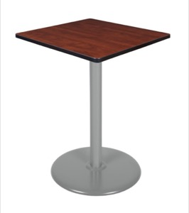 "Via Cafe High-Top 30"" Square Platter Base Table - Cherry/Grey"