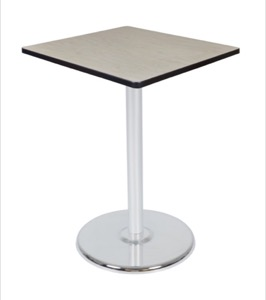 "Via Cafe High-Top 30"" Square Platter Base Table - Maple/Chrome"