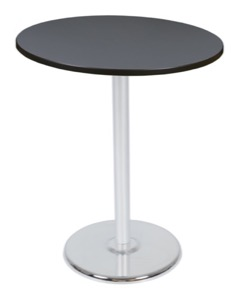 "Via Cafe High-Top 36"" Round Platter Base Table - Grey/Chrome"