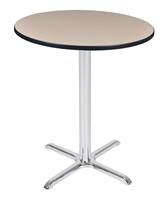"Regency Via Cafe High 36"" Round X-Base Table"