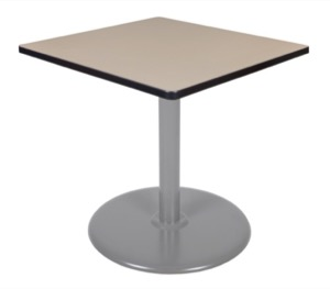 "Via 30"" Square Platter Base Table - Beige/Grey"