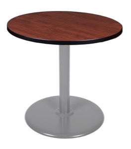 "Via 30"" Round Platter Base Table - Cherry/Grey"