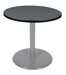 "Via 30"" Round Platter Base Table - Grey/Grey"