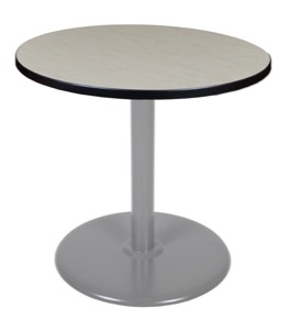 "Via 30"" Round Platter Base Table - Maple/Grey"
