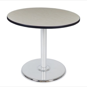 "Via 36"" Round Platter Base Table - Maple/Chrome"
