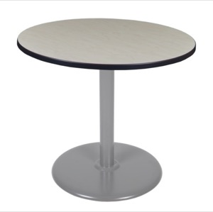 "Via 36"" Round Platter Base Table - Maple/Grey"