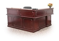 "Regency Prestige - Reception Desk 72"" L-Shape Counter, Cabinets"