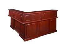 "Regency Prestige - Reception Desk 72"" Counter, Left L-Shape, Cabinets"