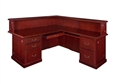 "Regency Prestige - Reception Desk 72"" Counter, Right L-Shape, Cabinets"