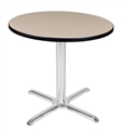 "Regency Via 36"" Round X-Base Table"