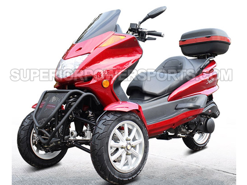 150cc gas 3 wheeler trike scooter. Black Bedroom Furniture Sets. Home Design Ideas