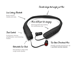 Lucid Audio Amplified Bluetooth Neck-band Earphones + Wireless TV Streamer