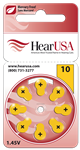 HearUSA Hearing Aid Batteries Size 10
