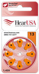 HearUSA Extra Advanced Hearing Aid Batteries Size 13- 1 Carton