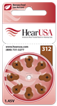 HearUSA Extra Advanced Hearing Aid Batteries Size 312- 1 Carton