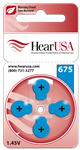 HearUSA Hearing Aid Batteries Size 675- 1 Carton