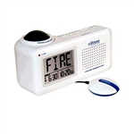 Lifetone HLAC151 Bedside Fire Alarm and Clock