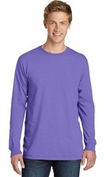 Port & Company Pigment-Dyed Long Sleeve Tee-Fast Shipping