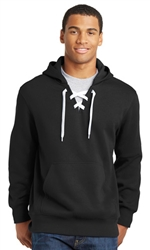 Sport-Tek Lace Up Pullover Hooded Unisex Sweatshirt-Fast Shipping