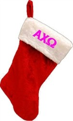 Greek Letter Christmas Stocking