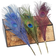 Peacock Ballpoint Feather Quill Pen-refillable