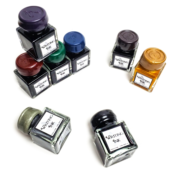 Writing Ink-Desktop square bottle with wax seal screw cap
