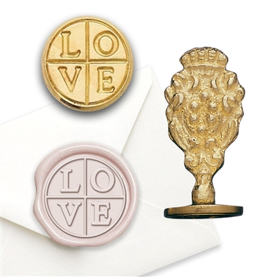 Wax Seal Love Cross - Brass Handle Stamp