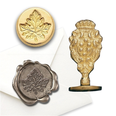 Wax Seal Maple Leaf - Brass Handle Stamp