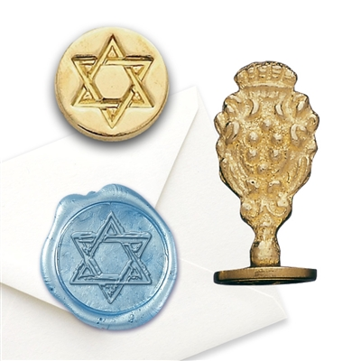 Religious Wax Seal Star of David - Brass handle Stamp
