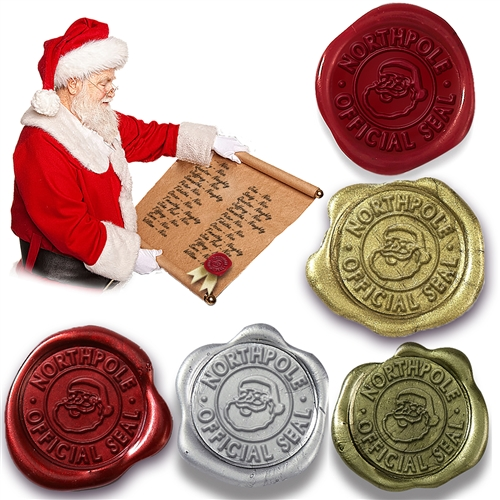 Self Adhesive Christmas Wax Seal -Northpole Official Seal