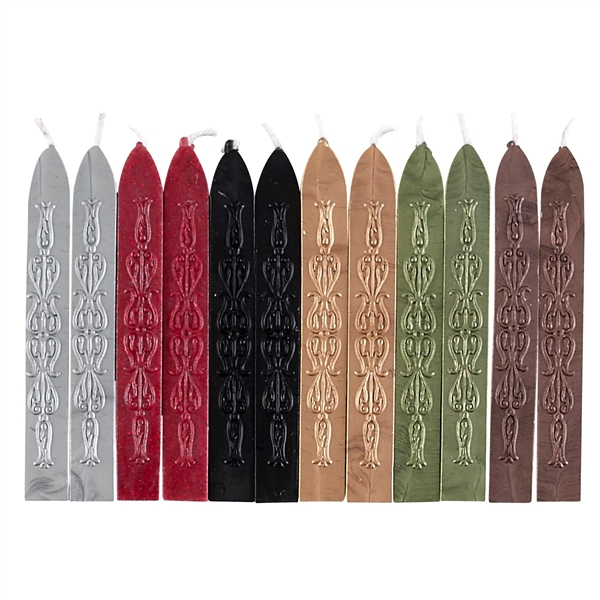 12PK Sealing Wax -Gothic  Variety Saver Pack-f;exible & mailable