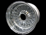 13X7 Reverse 72 Spokes Cross Lace ALL CHROME