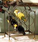 French Lily - 4 Bottle Wine Rack