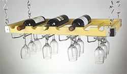 Columbia Wall/Ceiling Rack - 8 Bottles