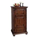 Howard Miller 695-078 Cognac Hide-A-Bar Wine & Spirits Cabinet