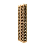 Double Deep 2-Column Wood Wine Rack for Splits