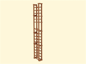1 Column Wine Rack with Display Provino