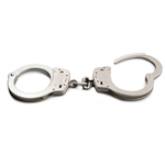 Smith & Wesson Chain Handcuffs Model 100 Nickle Plated Finish