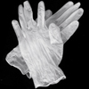 Latex Exam Gloves: Medium