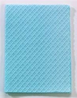 Blue Towels 2 Ply Tissue + Poly 13in x 18in