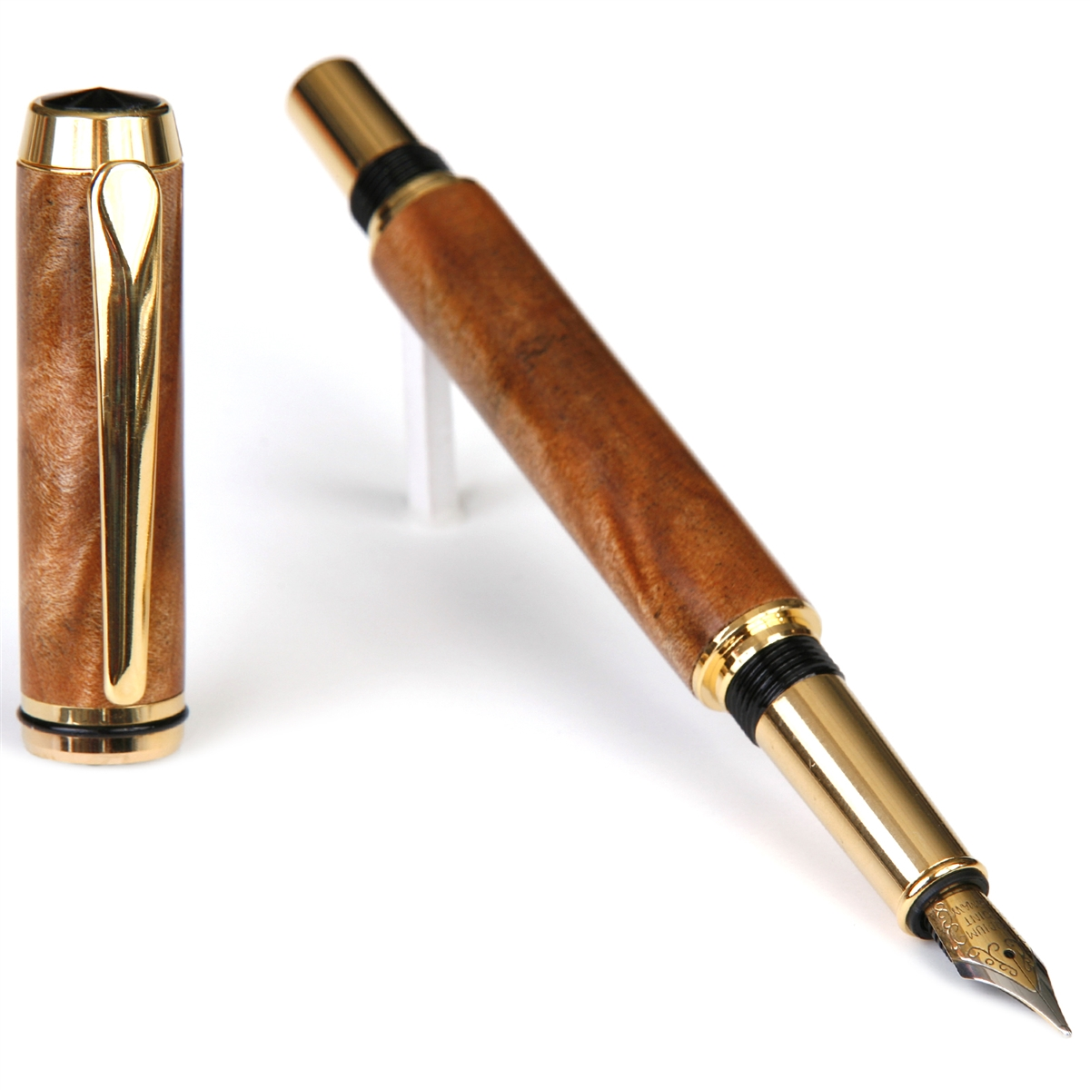 Baron Fountain Pen - Curly Maple