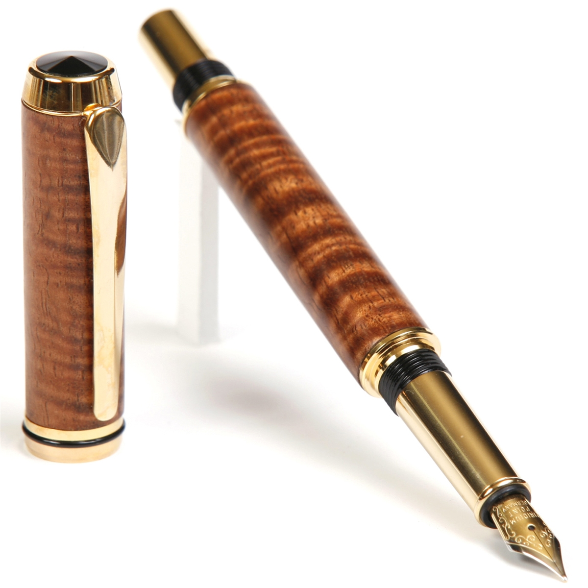 Baron Fountain Pen - Curly Hawaiian Koa